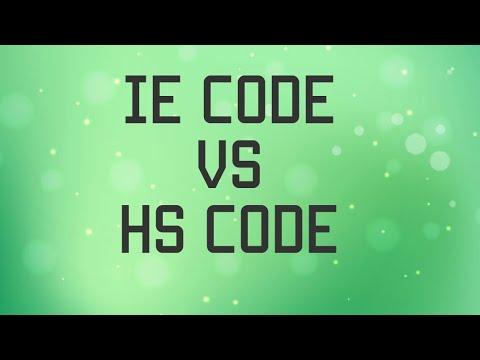 IE Code Vs HS Code