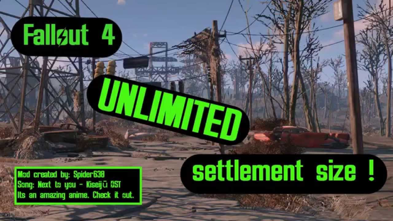 Fallout 4 settlement size