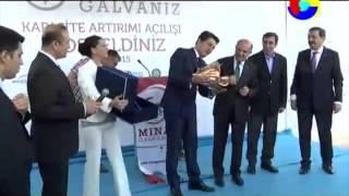 Gambar cover Mina Galvaniz Kapasite Artırım Töreni