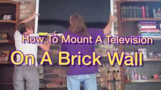How To Mount a TV On a Brick Wall