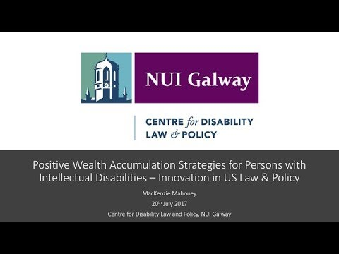 Positive Wealth Accumulation Strategies for Persons with Intellectual Disabilities in the US