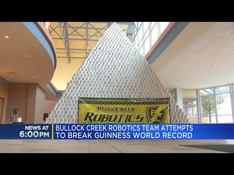 Mick Lee - Michigan High School Builds World's Largest Toilet-Paper Pyramid
