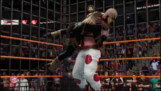 WWE 2K19 goldust v sweet tooth cage match