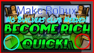 How To Make Robux As An Nbc Or Bc On Roblox!
