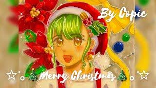 元気なサンタクロースの女の子を描いてみた!コピックイラストメイキングDrawing Santa Claus Girl By Copic