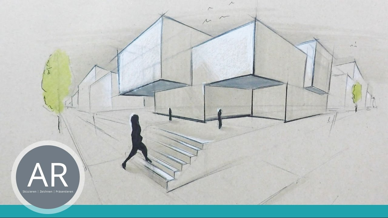 Architekturskizzen sch n und schnell visualisiert for Studium interior design