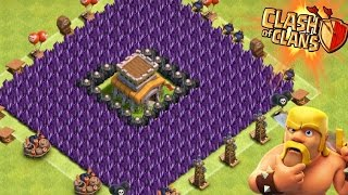 """Clash of Clans - """"NEW"""" EPIC CUBE/BOX BASE! """"TROLLING NOOBS!"""" Does It Work? Cube Defensive Strategy!"""