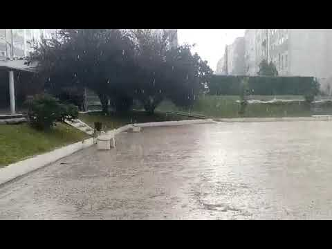 Forte chuvada em Palmela, 1\4\2019
