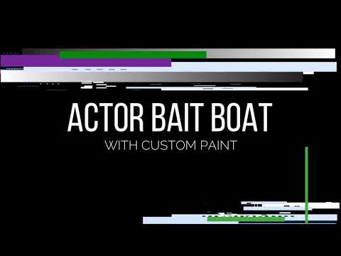Actor Bait Boat with custom paint