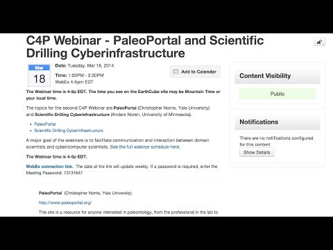 Cyber4Paleo Webinar 4: PaleoPortal and Scientific Drilling Cyberinfrastructure