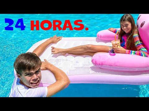 24 HORAS En El Desafío De La Piscina! H2O ESP