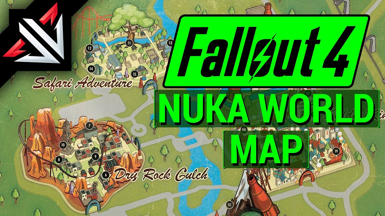 Fo4 Nuka World Map.Fallout 4 New Nuka World Dlc Map Locations Bethesda S Nuka World