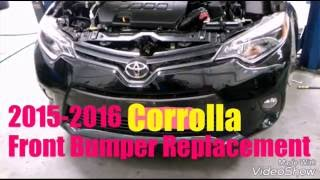 2015-2016 Corrolla Front bumper replacement/removal