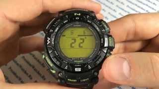 Як налаштувати ProTrek годинник Casio PRG-240-1B - інструкція від PresidentWatches.Ru