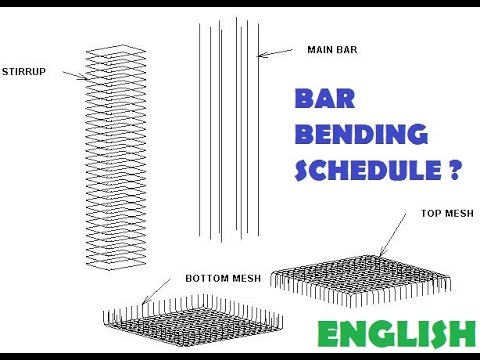 02-CIVIL ENGINEERING BAR BENDING SCHEDULE--REINFORCEMENT CALCULATION ? (ENGLISH)