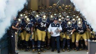Notre Dame Football Pump UP 2015 2016