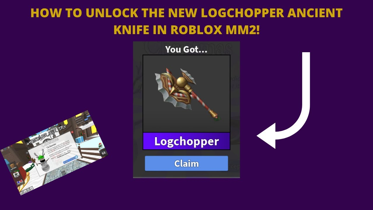 How To Unlock The New Logchopper Ancient Knife In Roblox Mm2 Christmas Update 2019 Buying All Tiers Youtube