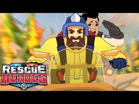Rescue Heroes™ | Episodio 3 - Tornado De Fuego | Serie Animada Para Niños | Fisher-Price
