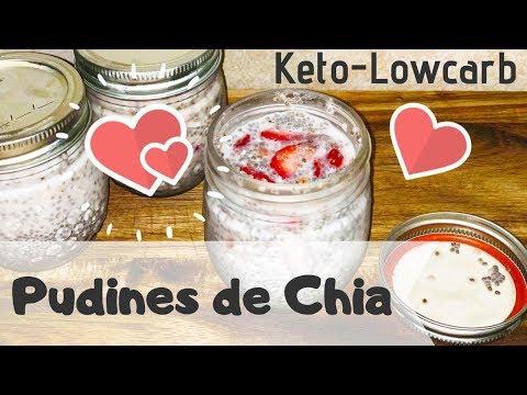 Desayuno Saludable Keto (3 Pudines de Chia) Receta de video de Keto Recipes
