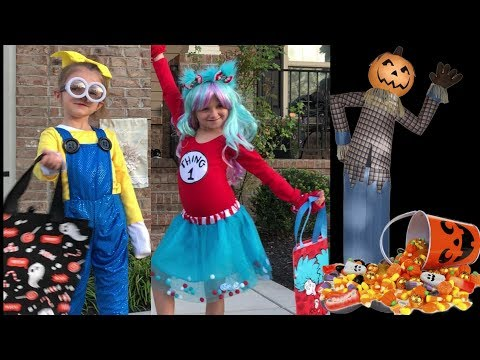 Halloween Trick Or Treat Disney Costume Party Candy Kids Brooke And Azlynn Show