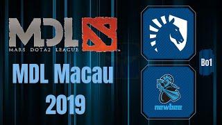 Team Liquid vs Newbee / Bo1 / MDL Macau 2019 / Dota 2 Live