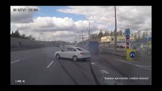 Stupid Russian spectacular crashes Part  73 Russian accidents english subtitles september 2018