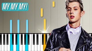 "Troye Sivan ""My My My"" Piano Tutorial - Chords - How To Play - Cover"