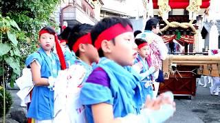 布団太鼓巡行 高崎神社(住之江・南加賀谷) 平成30年7月22日