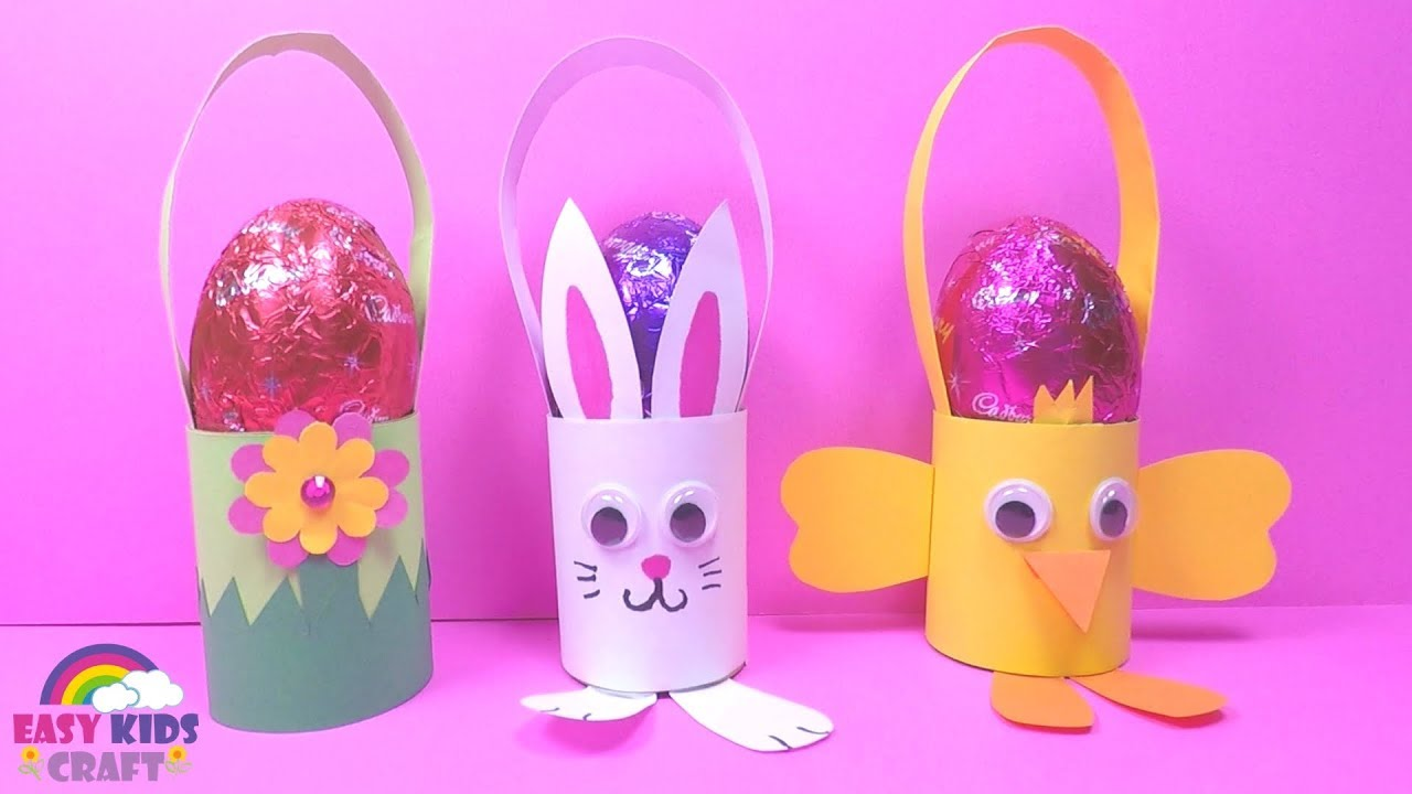 Easy Easter Egg Basket Diy Easter Crafts For Kids Youtube
