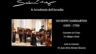 Giuseppe Sammartini, Concerto F Dur für Blockflöte, Streicher und B.c., 3.)Allegro Assai