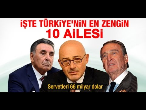Türkiyedeki En Zengin Aileler Youtube