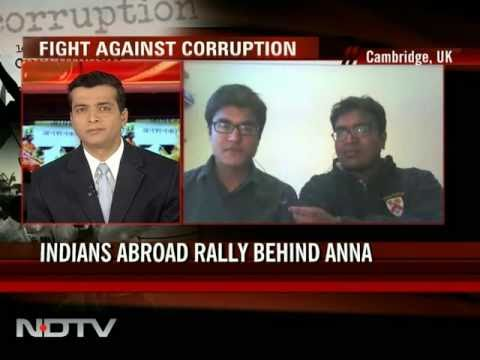 Cambridge students join Anna Hazare's crusade against corruption