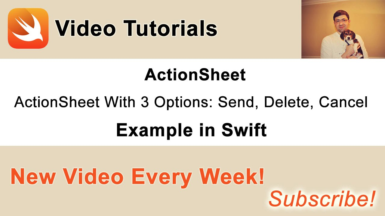 ActionSheet Example in Swift - Swift Developer Blog