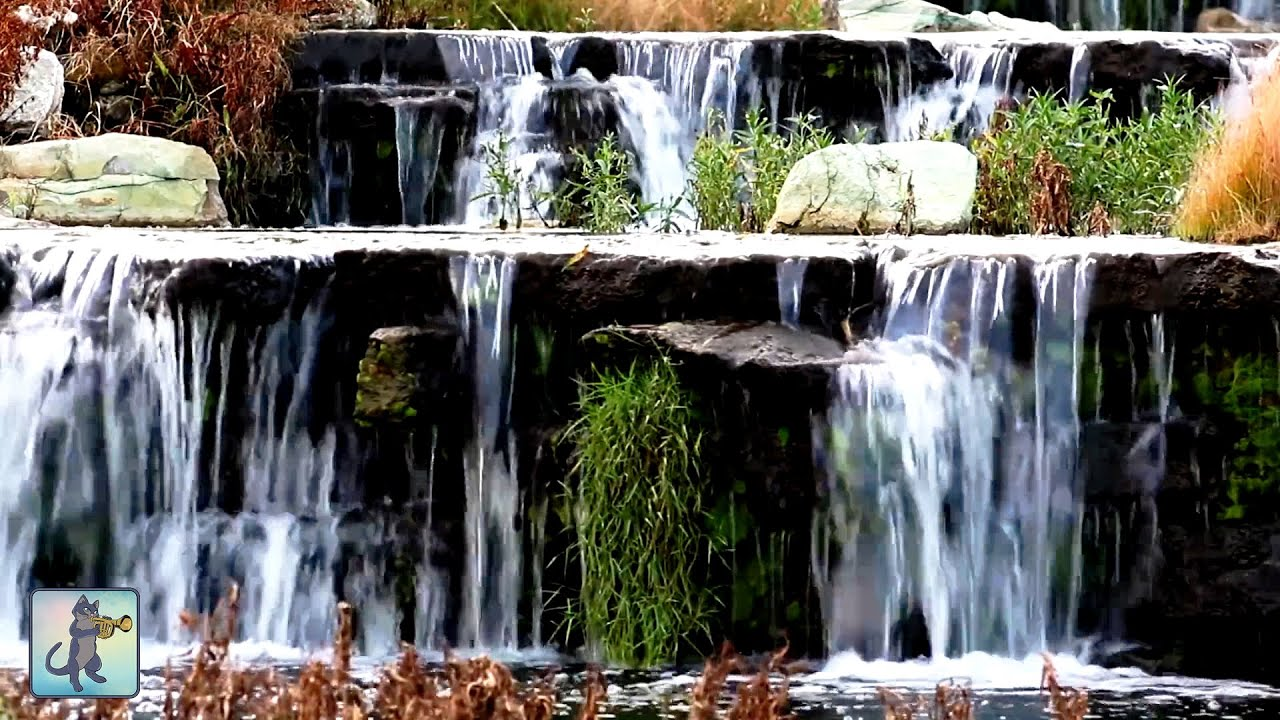 Tropical Island Beach Ambience Sound: 2 HOURS Of Relaxing Spring Waterfall & Beautiful Nature