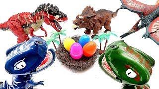 Dinosaur Egg Stealers! Jurassic World Fun Dino Video - Transforming Eggs For Kids