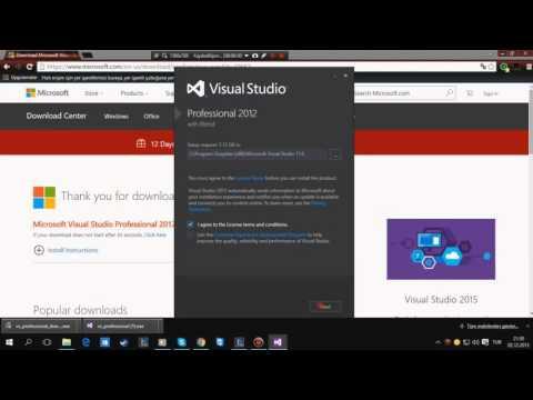 Visual Studio 2012 Kurulum