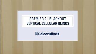 """Premier 2"""" Blackout Vertical Cellular Blinds from SelectBlinds.com"""