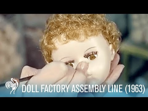 the-doll-factory's-assembly-line-(1963)-|-british-pathé