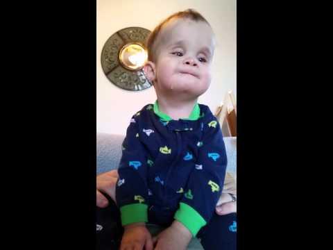 Legally blind & severely deaf boy says mama