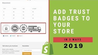 How To Add Trust Badges To Your Shopify Store In 2019