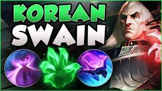 WTF RIOT?? KOREAN SWAIN HAS UNLIMITED SUSTAIN? SWAIN SEASON 8 TOP GAMEPLAY! - League of Legends