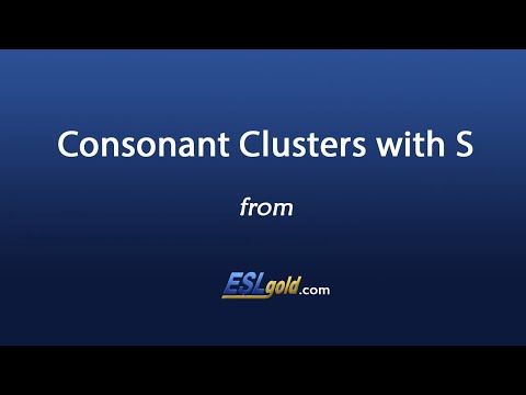 ESLgold.com Consonant Clusters With S Video