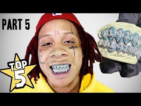 TOP 5 | RAPPER GRILLZ | PART 5  ( Trippie Redd, G-Eazy, Kanye West )