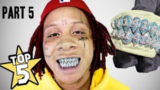 TOP 5 | RAPPER GRILLZ | PART 5  ( Trippie Redd, G-Eazy, Kanye West )