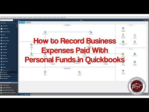 How to Record Business Expenses Paid With Personal Funds in Quickbooks