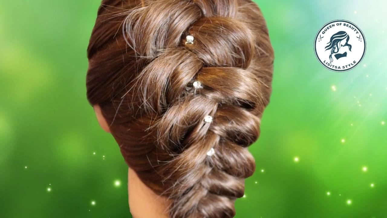 Как сделать косу на выворот фото 601
