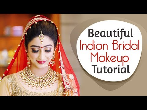 Beautiful Glittery Eye Bridal Makeup Tutorial