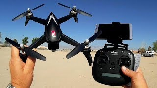 MJX Bugs 5W B5W FPV Brushless GPS Circle Follow Me Waypoints Drone Flight Test Review