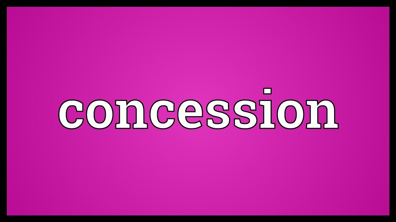 what does concession mean in english
