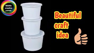 Best out of waste plastic container craft idea#waste material craft